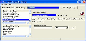 Data Fields Manager for Outlook screen shot